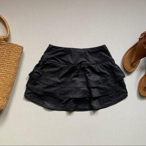 Athleta   Grey Ruffle Skirt
